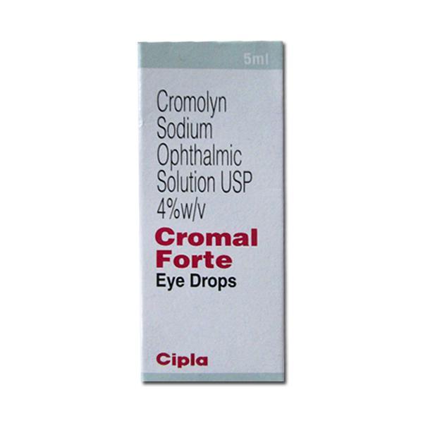 Sodium Cromoglycate 4% w/v Cromal Forte Eye Drop