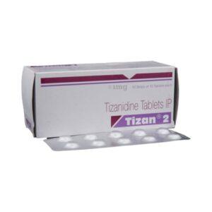 Tizanidine 2 MG Tablet Tizan