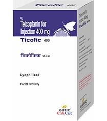 Ticoplanin 400mg Ticofic Injection